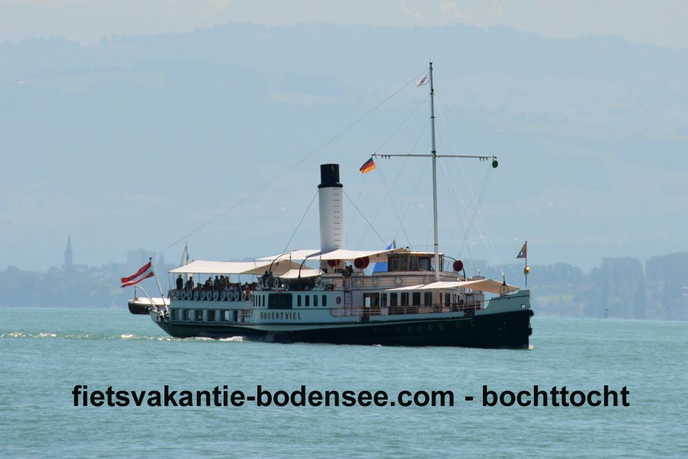Boottocht langs de Bodensee - stoomboot Hohentwiel