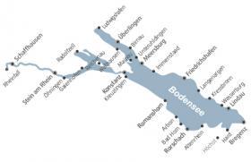 Fietsvakantie aan de Bodensee - Kaart